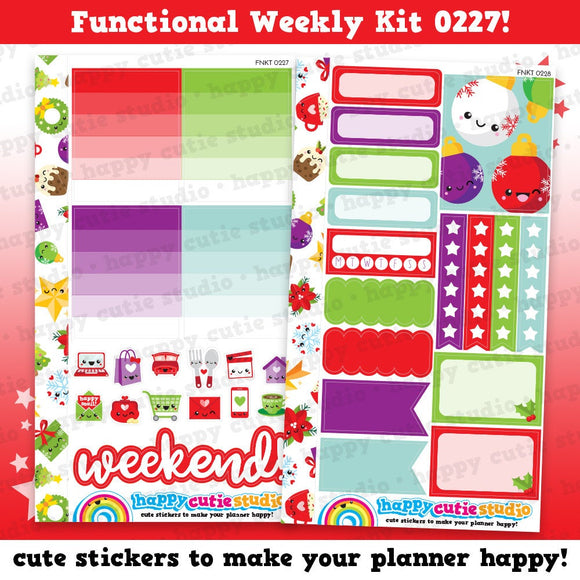 Functional Personal Size Weekly Kit 0227 Planner Stickers/Panda/Kawaii/Cute Stickers