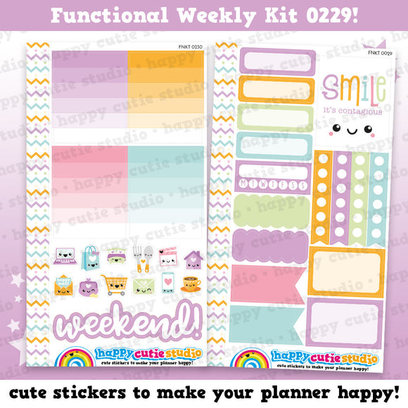 Functional Personal Size Weekly Kit 0229 Planner Stickers/Kawaii/Cute Stickers