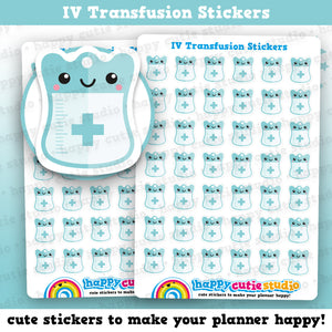 42 Cute IV Transfusion Reminder Planner Stickers