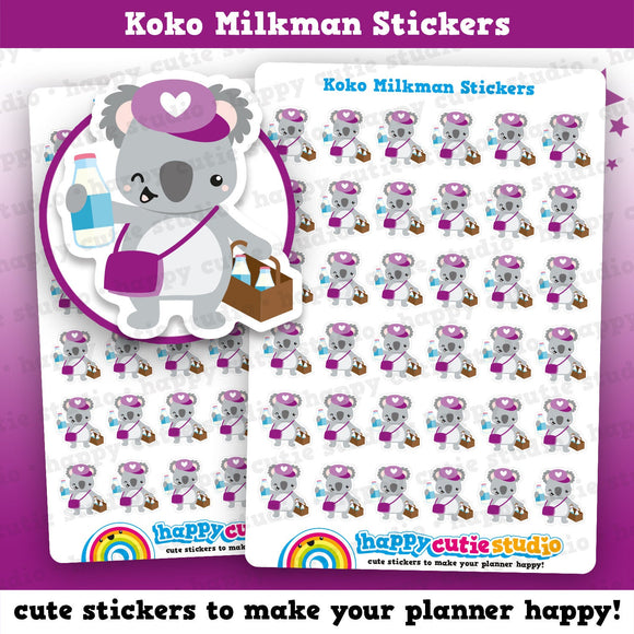 36 Cute Koko The Koala Milkman Planner Stickers