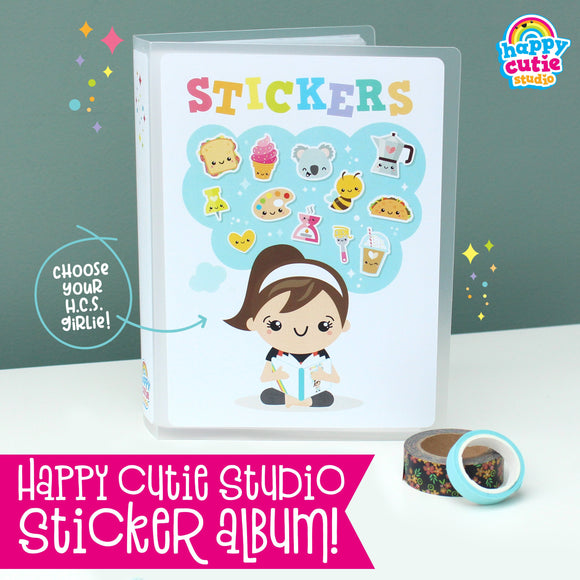 Happy Cutie Studio Sticker Album/Sticker Storage/Sticker Folder/Kawaii/Cute