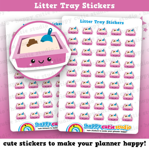 45 Litter Tray/Poop/Pet/Cat/Dog Planner Stickers