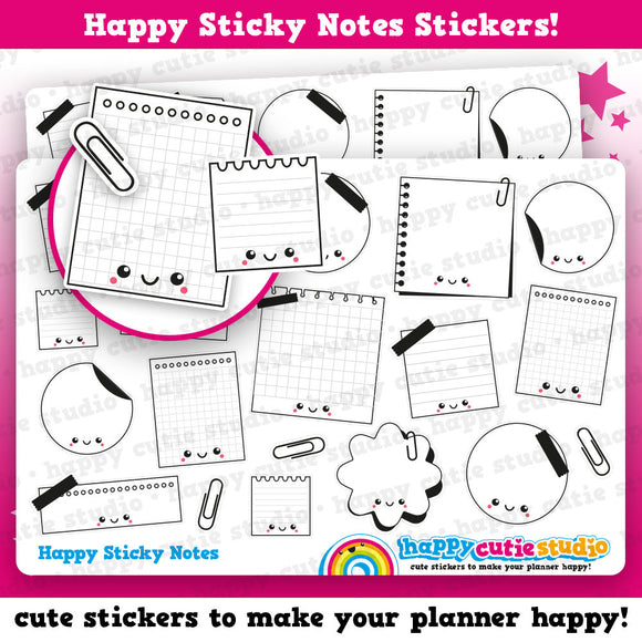 15 Cute Sticky Notes - Shaped/Functional/Practical Planner Stickers