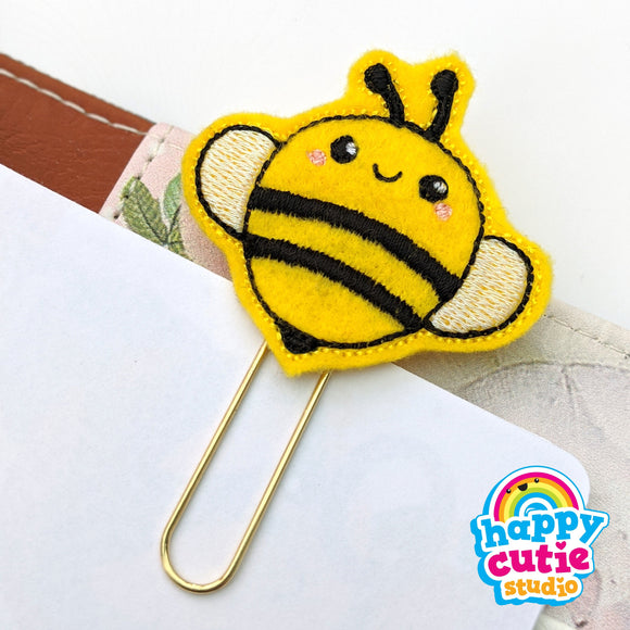 Happy Cutie Studio Bee/Bumble Bee Planner Clip/Kawaii/Cute
