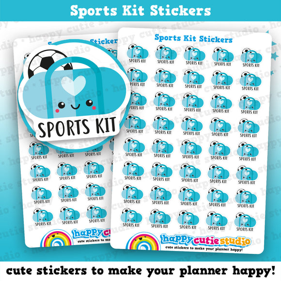 40 Cute Sports Kit/Bag/School Reminder Planner Stickers