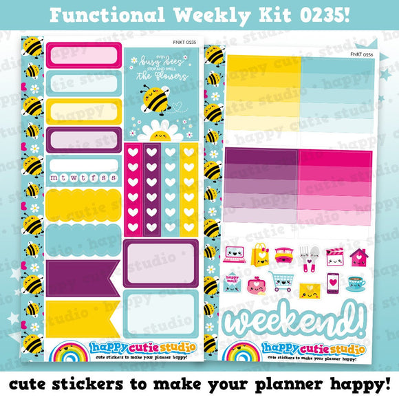 Functional Personal Size Weekly Kit 0235 Planner Stickers/Kawaii/Cute Stickers