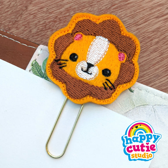 Happy Cutie Studio Lion Planner Clip/Kawaii/Cute