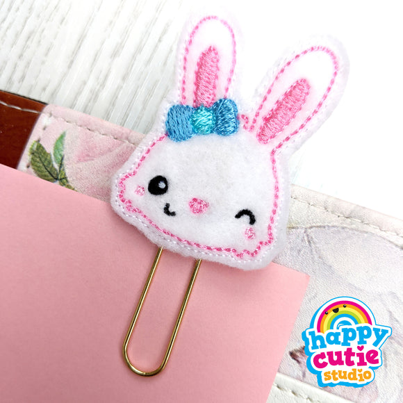 Happy Cutie Studio Rabbit/Bunny/Carrots Planner Clip/Kawaii/Cute