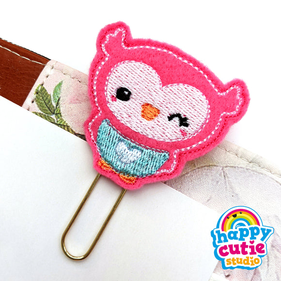 Happy Cutie Studio Owl/Orla Owl/Wise Planner Clip/Kawaii/Cute