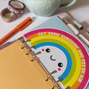 Happy Cutie Studio Happy Rainbow Personal Planner Divider/Kawaii/Cute