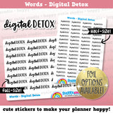 Digital Detox Words/Banners/Functional/Foil Planner Stickers