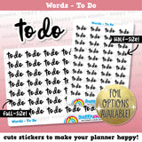 To Do Words/Functional/Foil Planner Stickers