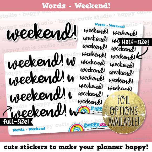 Weekend Words/Banners/Functional/Foil Planner Stickers