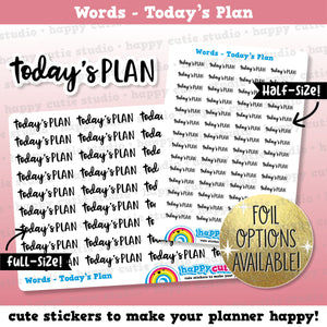 Today's Plan Words/Functional/Foil Planner Stickers