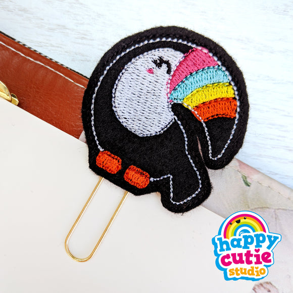 Happy Cutie Studio Tallulah the Toucan Planner Clip/Kawaii/Cute