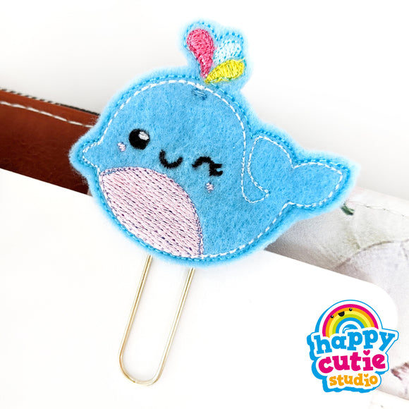 Happy Cutie Studio Gail the Whale Planner Clip/Kawaii/Cute