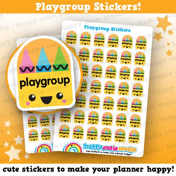 42 Cute Playgroup / Play Group Planner Stickers