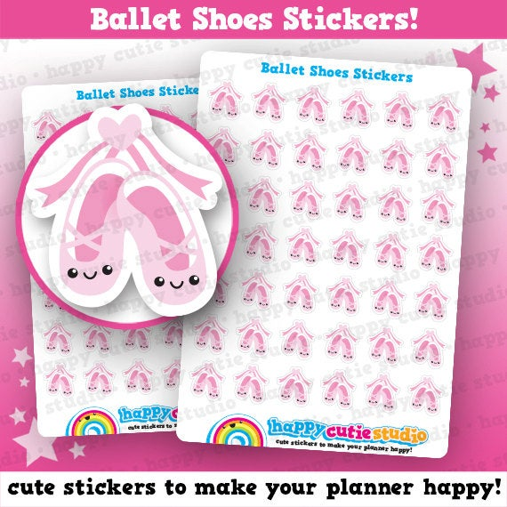 42 Cute Ballet Shoes/Lesson Planner Stickers