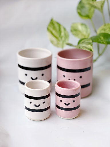 Set of 2 Ceramic Sake Cups
