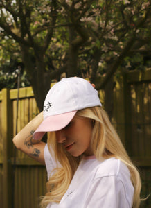 White and Pink Cap