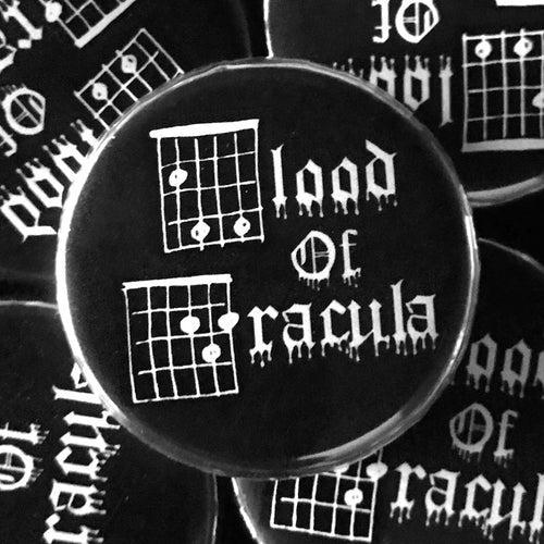Blood Of Dracula (Guitar-Horror) Button
