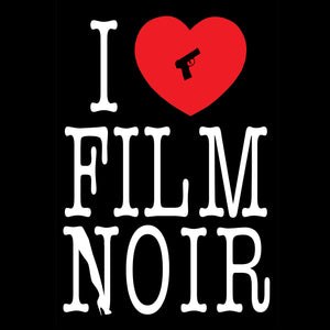 I Love Film Noir (Leg) Vinyl Sticker