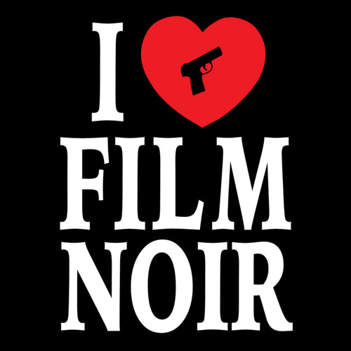 I Love Film Noir Vinyl Sticker