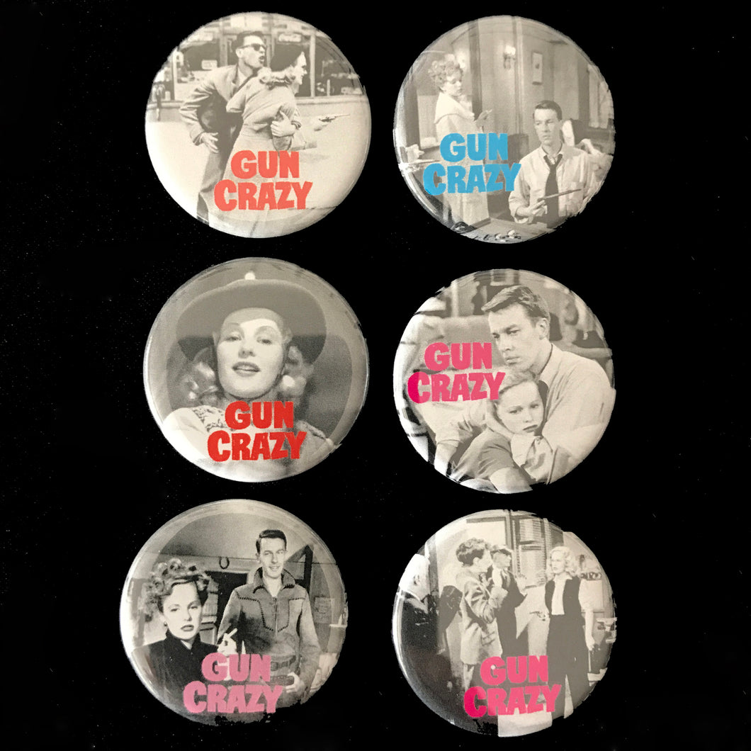 Gun Crazy (1950) Button Set