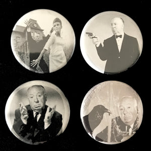 Alfred Hitchcock Button Set