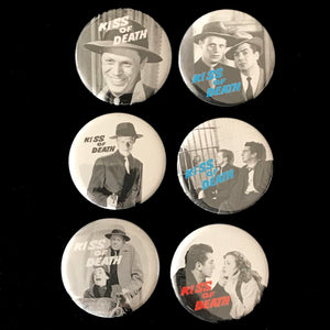 Kiss Of Death (1947) Button Set