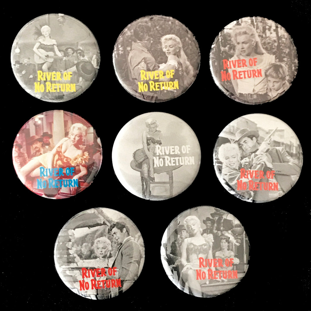 River Of No Return (1954) Button Set