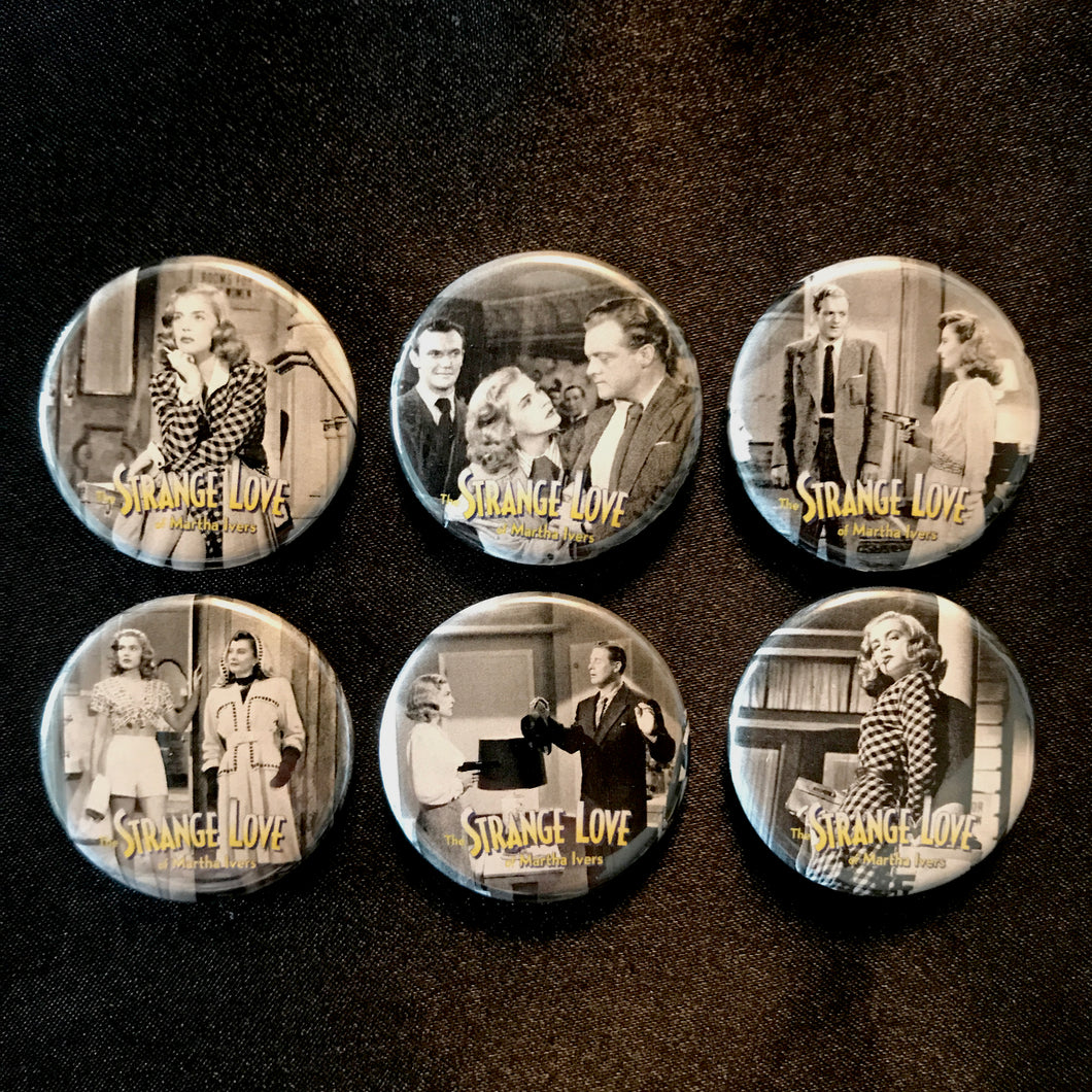 The Strange Love Of Martha Ivers (1946) Button Set