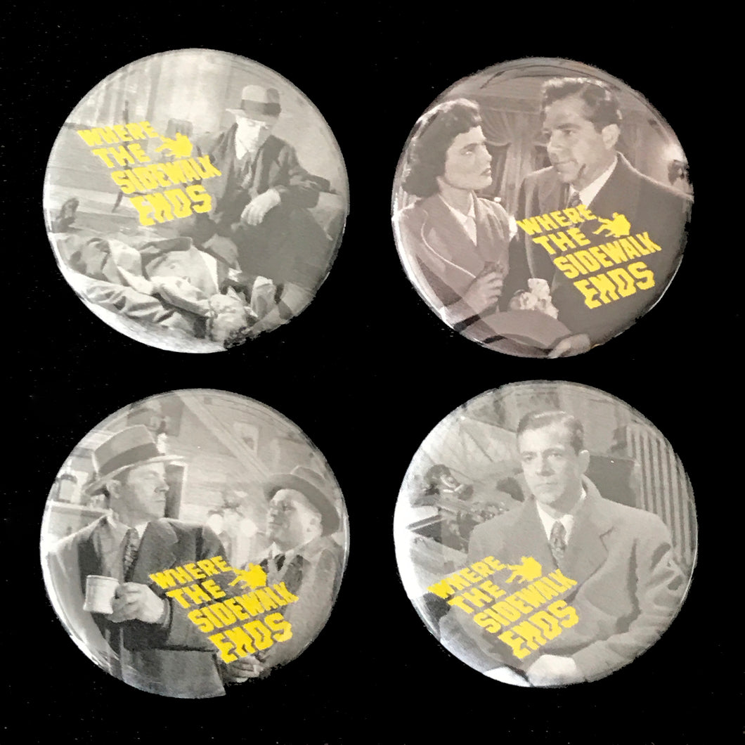 Where The Sidewalk Ends (1950) Button Set