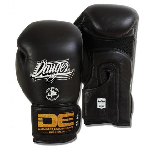 Boxing Gloves - Danger Black Contact Pro Edition Boxing Gloves