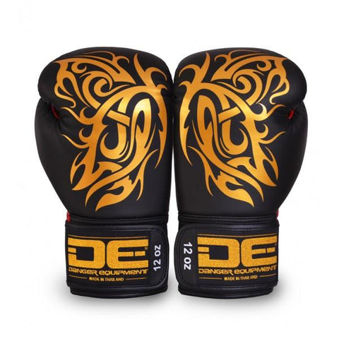 Boxing Gloves - Danger Black / Gold Butterfly Edition Boxing Gloves