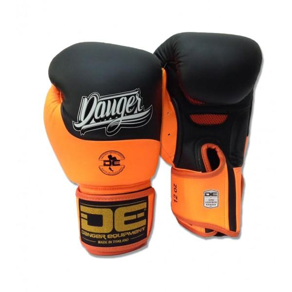 Boxing Gloves - Danger Black / Neon Orange Evolution Boxing Gloves