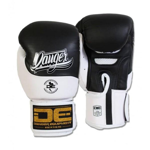 Boxing Gloves - Danger Black / White Evolution Boxing Gloves