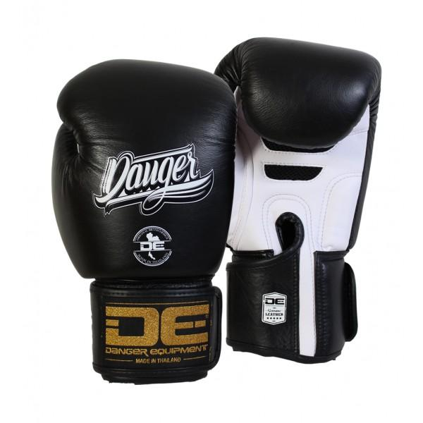 Boxing Gloves - Danger Black / White Super Max Edition Boxing Gloves