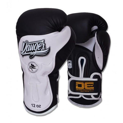 Boxing Gloves - Danger Black / White Ultimate Fighter Edition Boxing Gloves
