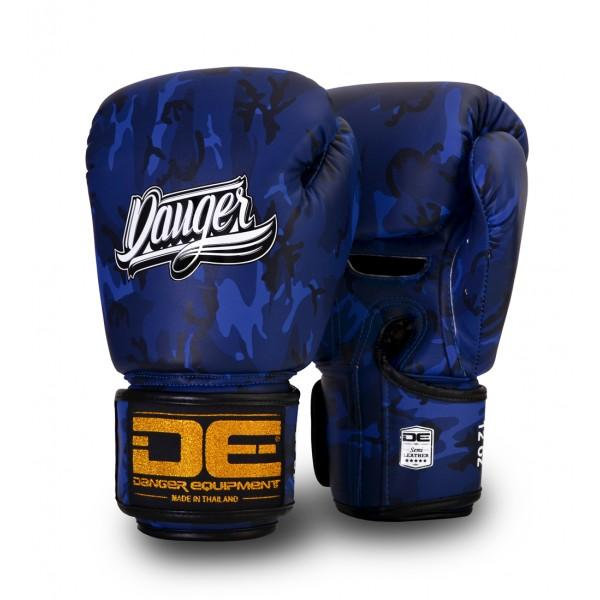 Boxing Gloves - Danger Blue Army Edition Kids Boxing Gloves
