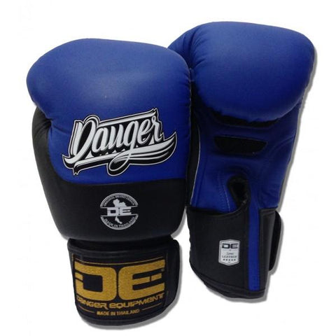 Boxing Gloves - Danger Blue / Black Evolution Boxing Gloves