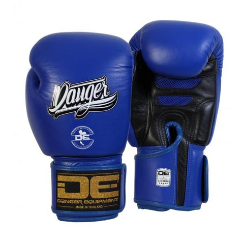 Boxing Gloves - Danger Blue / Black Super Max Edition Boxing Gloves