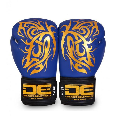 Boxing Gloves - Danger Blue / Gold Butterfly Edition Kids Boxing Gloves