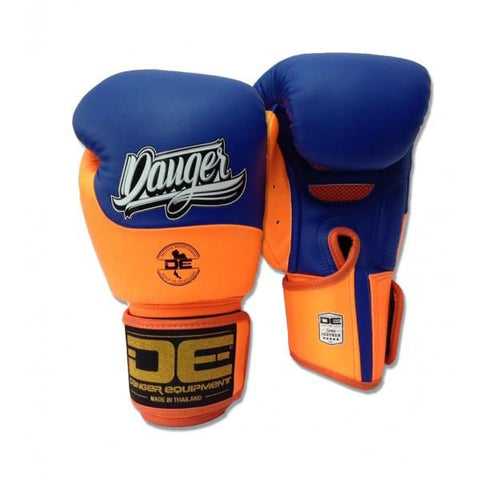 Boxing Gloves - Danger Blue / Neon Orange Evolution Boxing Gloves