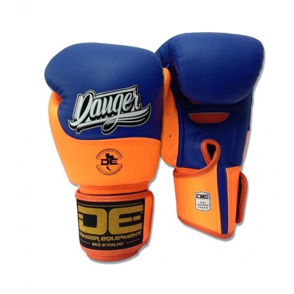 Boxing Gloves - Danger Blue / Neon Orange Evolution Kids Boxing Gloves
