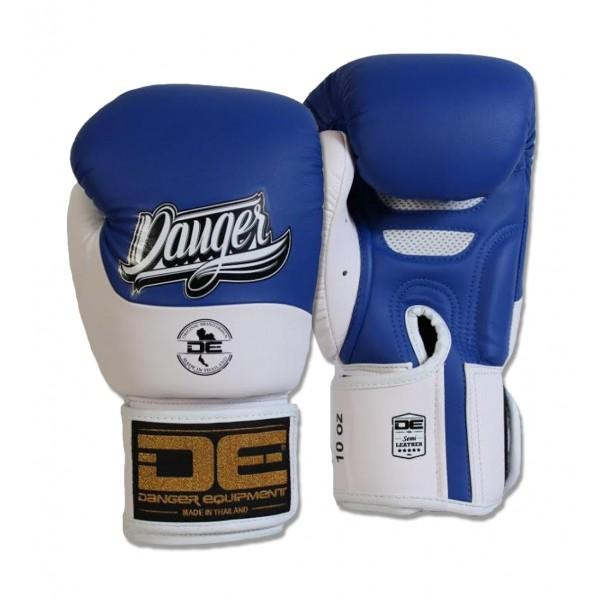 Boxing Gloves - Danger Blue / White Evolution Boxing Gloves