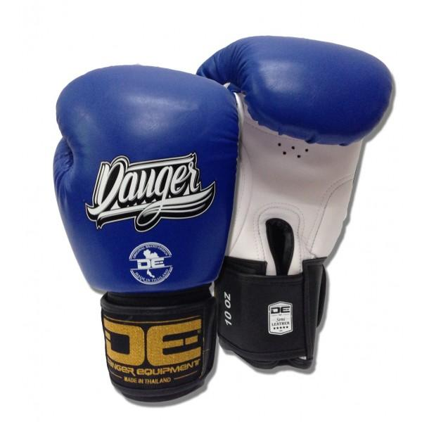 Boxing Gloves - Danger Blue / White With Black Cuff Classic Edition Kids Boxing Gloves