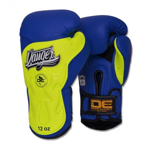 Boxing Gloves - Danger Blue / Yellow Ultimate Fighter Edition Boxing Gloves