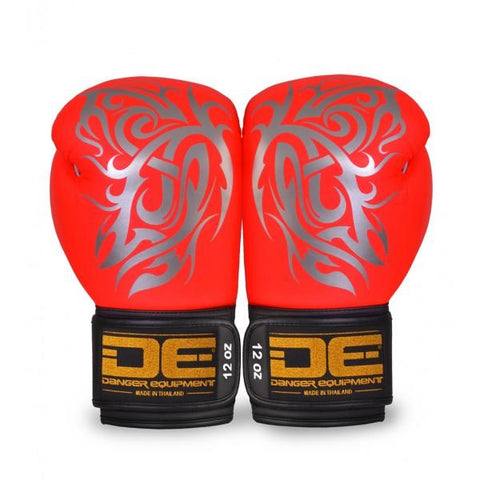 Boxing Gloves - Danger Flashy Red / Silver Butterfly Edition Kids Boxing Gloves
