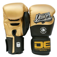Boxing Gloves - Danger Gold / Black Evolution Boxing Gloves